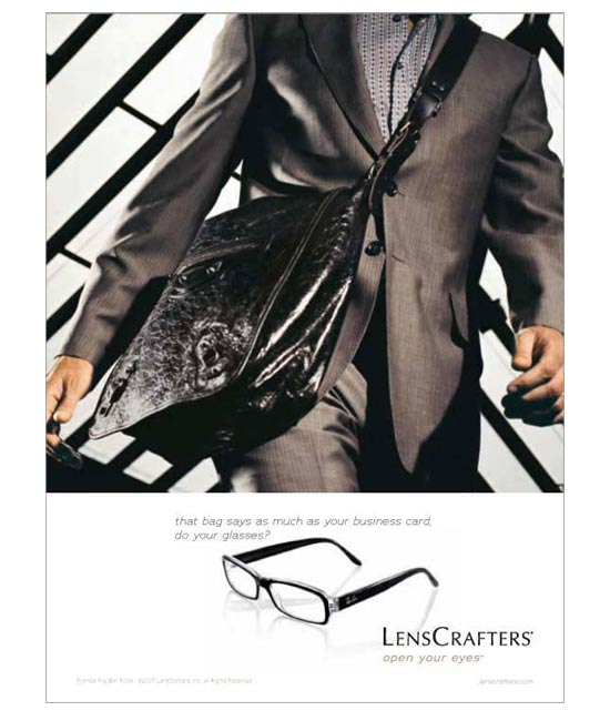 Lencrafters ad / Bag