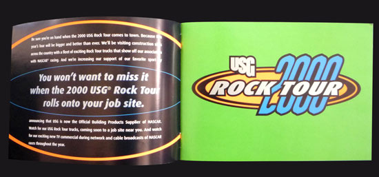 USG brochure spread1- Rock Tour Promotion