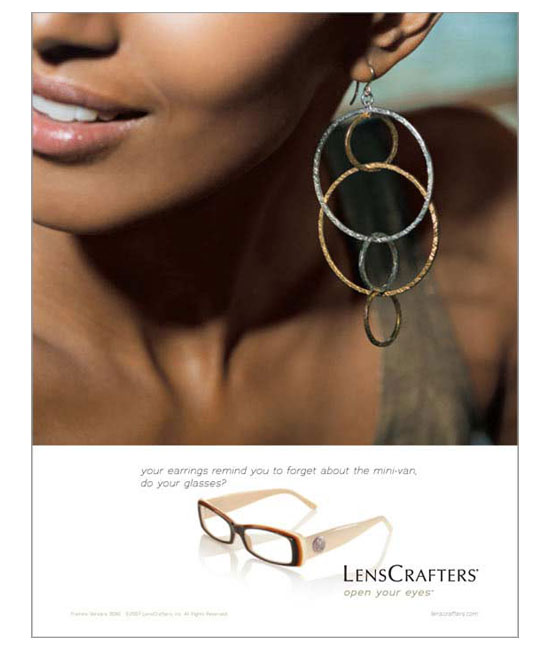 Lencrafters ad / earring