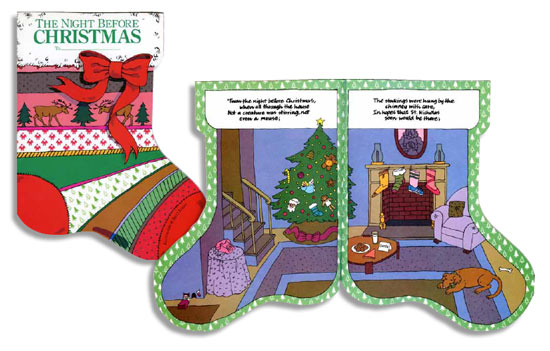 The Night Before Christmas / stocking book / illustration