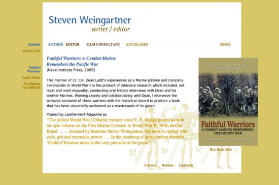 Steven Weingartner / web design
